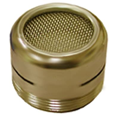 Plumbest A01-019 Non-Slotted Full Flow Aerator, Polished Brass