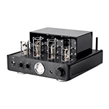 Monoprice 116153 Stereo Tube Amp Audio Component Amplifier, Black