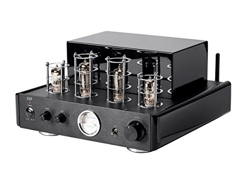 Monoprice Tube Amp with Bluetooth 50-watt Stereo Hybrid and Line Output,Black - (116153) System 50w Amp