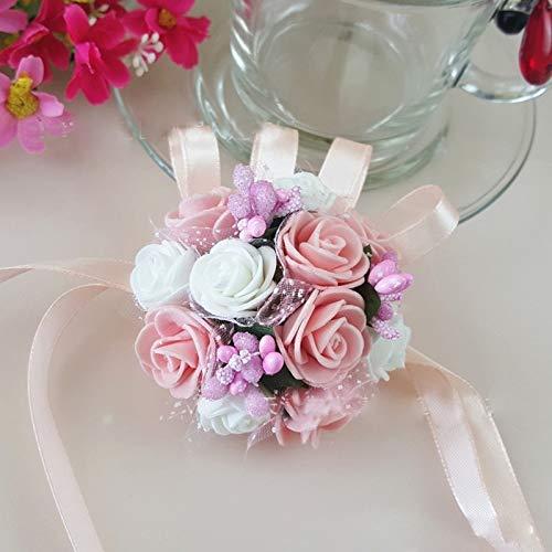 Bridesmaid Wrist Flower Corsage Bracelet Sister Hand Wedding Party Bouquet Decor