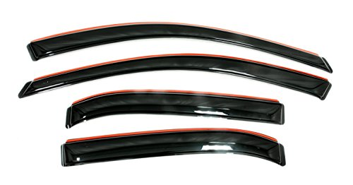 Toyota Corolla Auto Body - Auto Ventshade 194073 In-Channel Ventvisor Side Window Deflector, 4-Piece Set for 2009-2013 Toyota Corolla