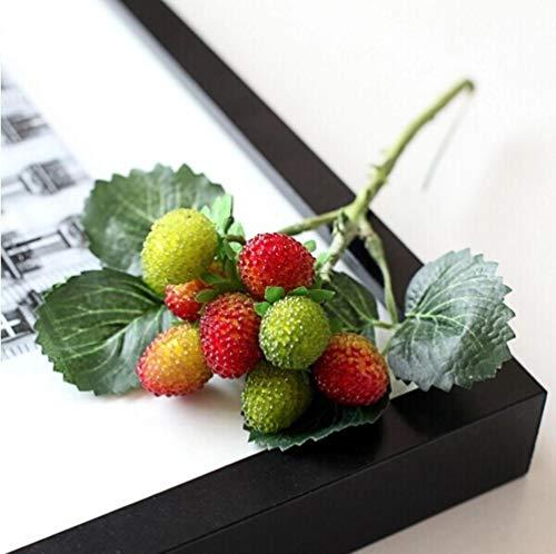 - Hakazhi Inc 9 Fruit Decoration Flower Artificial Fruit Paddle Strawberry Photo Props Artificial Plant Decoration Basket Vase (Green)