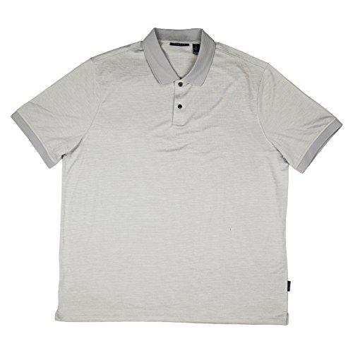 Perry Ellis Portfolio Mens Polyester Stitch Polo Shirt XX-Large Alloy