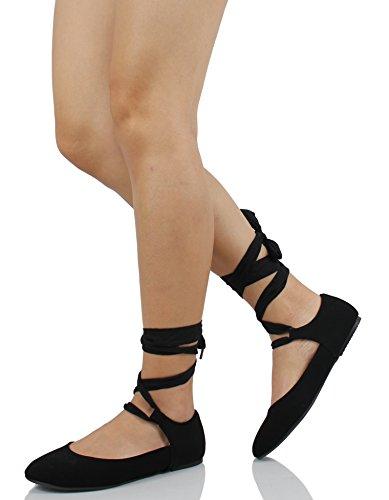 Donna Classificata Da Donna A Punta Tonda Con Cinturino Alla Caviglia