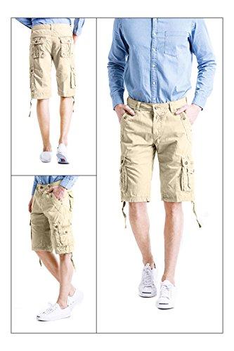 Cyparissus Mens Cargo Shorts Multi Pockets Short for Men (36,Khaki) by Cyparissus (Image #4)
