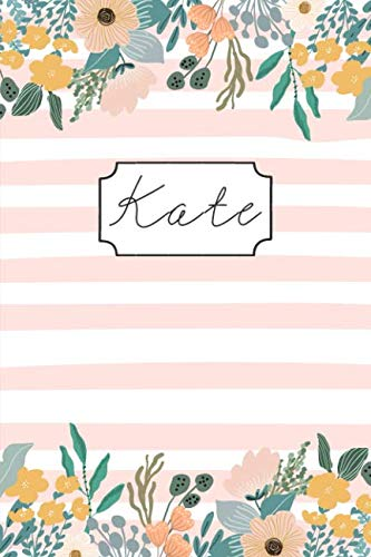 (Kate: Personalized Name Composition Book  for Girls Teens or Women. Wide Ruled Blank Paper.)