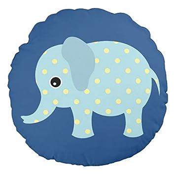 Amazon.com: Animado de lunares elefante guardería cojín para ...