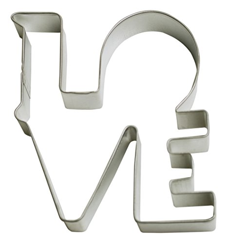 Cybrtrayd R and M Love 4.5'' Cookie Cutter in Durable, Economical, Tinplated Steel