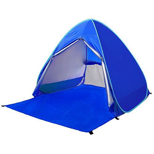 Ylovetoys Outdoor Automatic Pop Up Beach Tent, Portable Cabin Camping Tent Sun Shelter for 1-2 Person (Dark Blue)