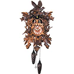 Alexander Taron 640QMT Engstler Battery-Operated Cuckoo Clock-Full Size-18 H x 12 W x 7.5 D, Brown