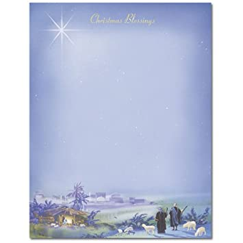 amazon com wondrous light christmas stationery paper 80 sheets