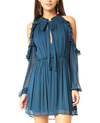 blue 70s dress - 9