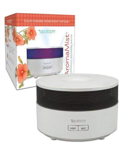 SpaRoom Aromamist Ultrasonic Essential Oil Diffuser, White