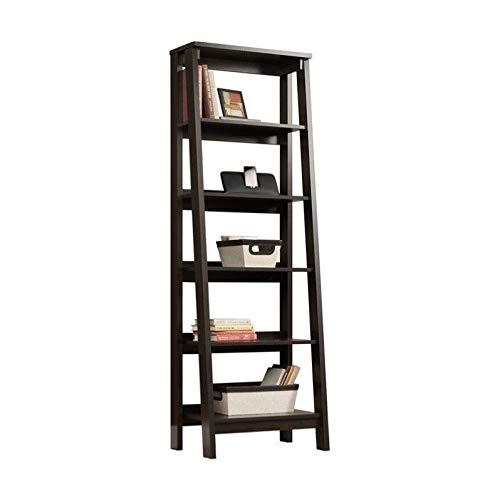 Sauder Trestle 5 Shelf Bookcase, Jamocha Wood finish (Thin Bookshelves)