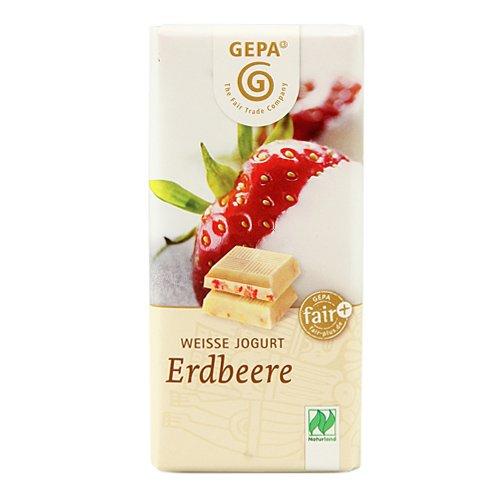 Gepa Mini Tableta Choco Blanco, Yogurt, Fresas Bio - 40 gr: Amazon.es: Alimentación y bebidas