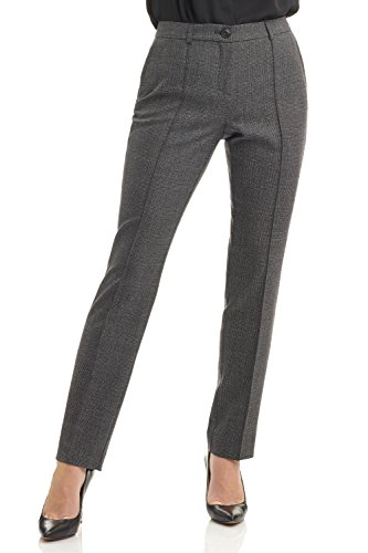 Rekucci Collection Women's Stretch Wool Tailored Pants (18,Grey Glencheck)