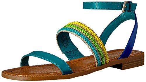 Nine West Women's Xenosa Synthetic Gladiator Sandal, Dark Turquoise, 6 M US 25025623