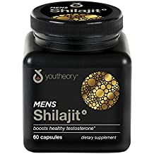 Youtheory Mens Shilajit Advanced with PrimaVie® 60ct (1 Bottle)