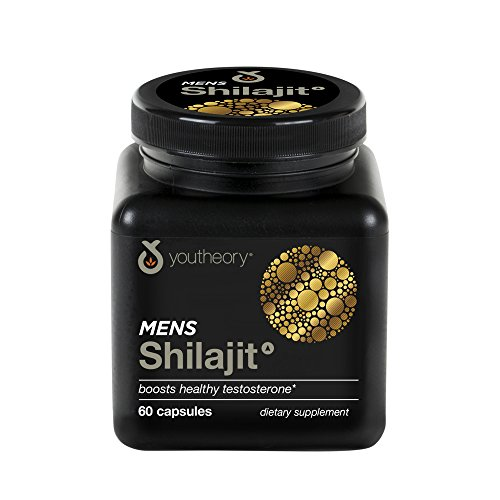 Youtheory Mens Shilajit Advanced with PrimaVie 60ct (1 Bottle)