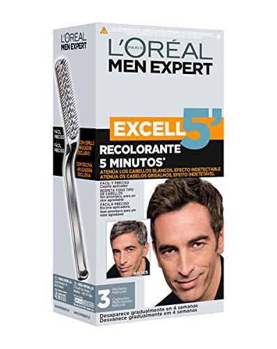 🥇 L'Oréal Paris Men Expert Excell 5 Brush-in Hair Colour Natural Darkest Brown Shade 3