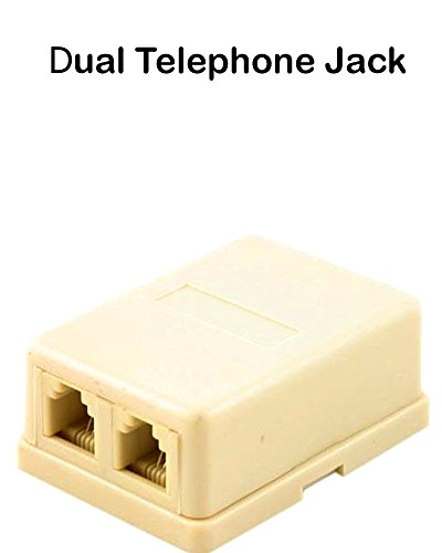 Dual Telephone Surface Wall Mount Phone (Wall Mount Phone Jacks)