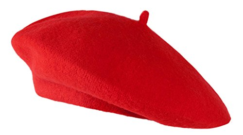 TopHeadwear Wool Beret - Red