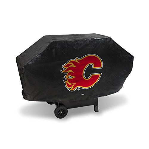 NHL Calgary Flames Deluxe Grill Cover, Black, 68 x 21 x 35""