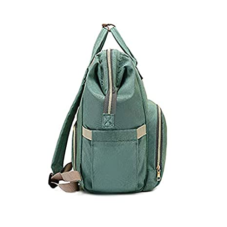 Light Green Diaper Bag Multi Function Backpack Travel Backpack Baby Nappy Changing Mommy Bags