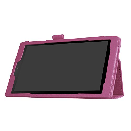 YJYdada For Amazon Kindle Fire HD 10 2017 7th Gen Magnetic Leather Stand Case Cover (purple)