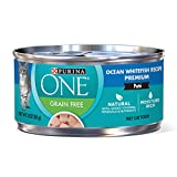 Purina ONE Natural, High Protein, Grain Free Pate Wet Cat Food, Ocean Whitefish Recipe - (24) 3 oz....