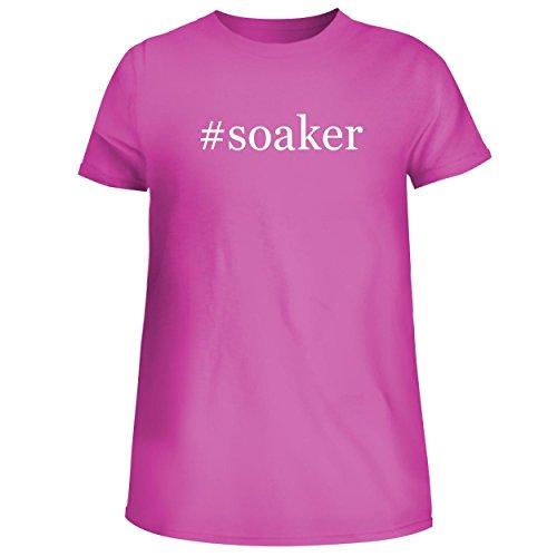 (#Soaker - Cute Women's Junior Graphic Tee, Fuchsia, Small)