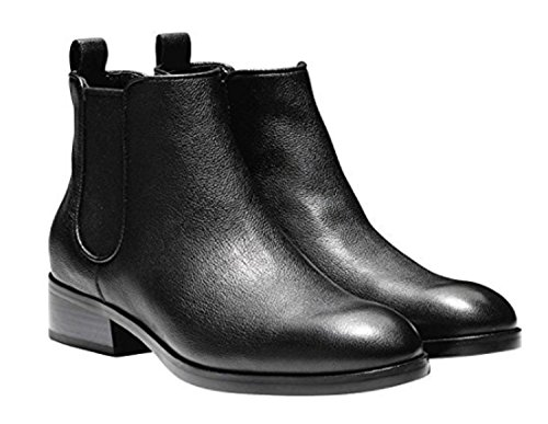 Boot Cole 10 Women's Black Leather Causal Short Haan Booties Ankle Landsman rrw8vq