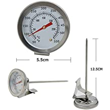GuDoQi Deep Fry Thermometer Instant Read Kitchen Cooking Dial Thermometer with Long Stainless Steel Probe for Oil Meat BBQ Candy Turkey Milk Coffee
