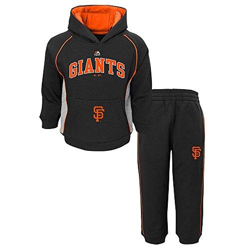 Majestic Hood Athletic (Outerstuff San Francisco Giants MLB Majestic Lil Fan Hoodie & Pants Fleece Set Toddler)