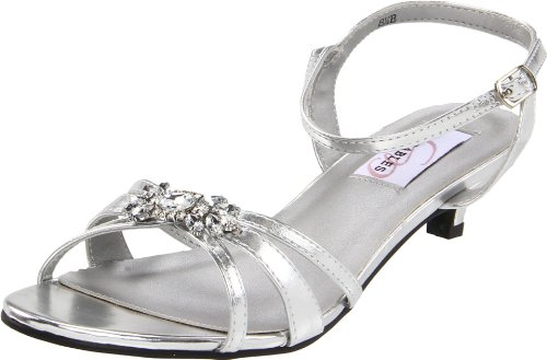Dyeables Women's Penelope Ankle-Strap Sandal,Silver Metallic,5.5 B US