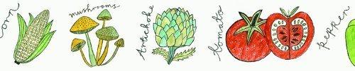 Aimez le Style Vegetable Design 38mm width Washi Paper Masking Tape
