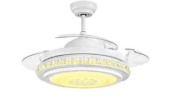 Sala de LED invisible Ventilador de techo Infantil Luz de control ...