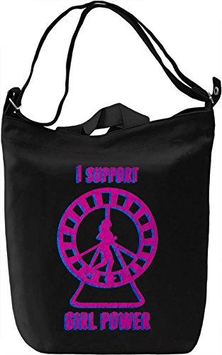 Girl Power Borsa Giornaliera Canvas Canvas Day Bag| 100% Premium Cotton Canvas| DTG Printing|