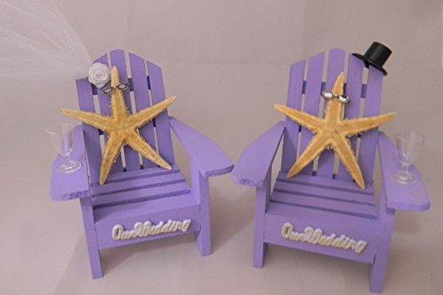 Wedding Reception Adirondack Chairs Beach Real Starfish Cake Topper ()