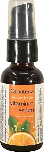 Quanterra Vitamin C Serum Facial Moisturizer With Hyaluronic Acid