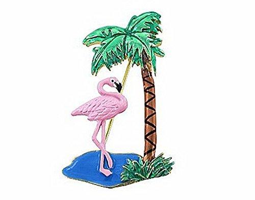 Eye-catching Flamingo & Palm Tree Pin