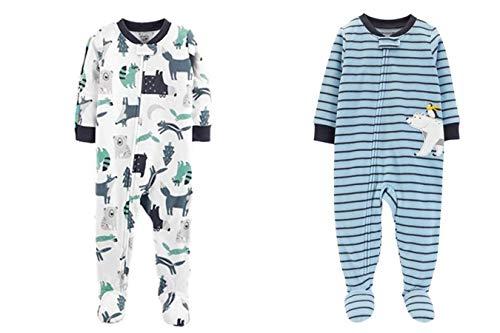 Carter's Baby Boys' Toddler 2-Pack Fleece Pajamas (4T, Polar Bear/Animals)