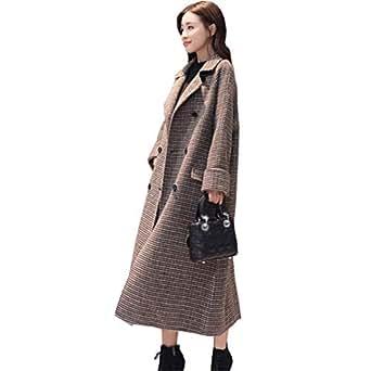 Amazon.com: Beltnossnk Women Winter Wool Coat Houndstooth