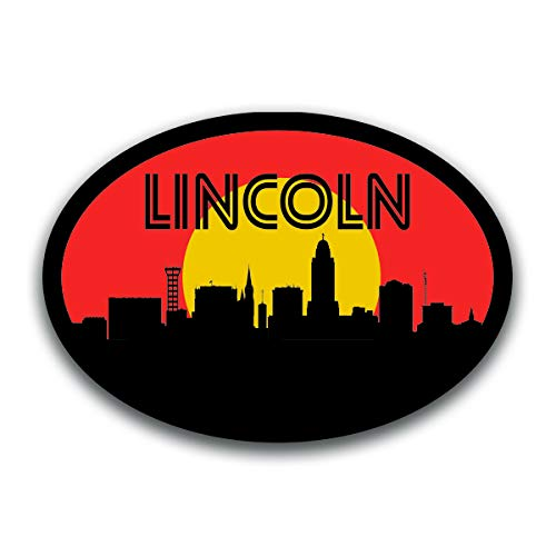- Lincoln Nebraska Skyline Vinyl Decal Sticker | Cars Trucks Vans SUVs Windows Walls Cups Laptops | Full Color Printed | 5.5 Inch | KCD2604