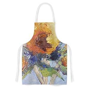 Kess InHouse CS1027AAR01 Carol Schiff Sunflower Trio Yellow Floral Artistic Apron