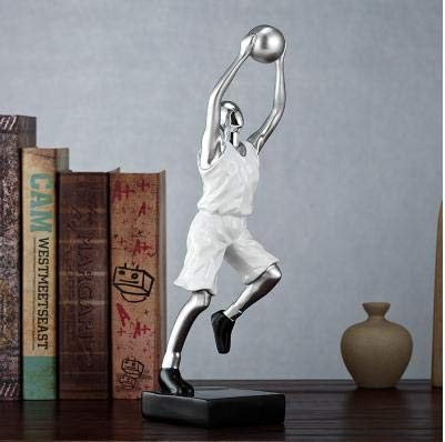 (DAJIADS Figurine Figurines Statue Statues Statuette Sculptures Buddha American Modern Basketball Sports Figure Sculpture Goalkeeper Statue Home Living Room Wine Cabinet Study Bookshelf Trophy Crafts)