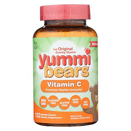 Yummi Bears Vitamin C Chewable Gummy Vitamin Supplement for Kids, 132 Gummies