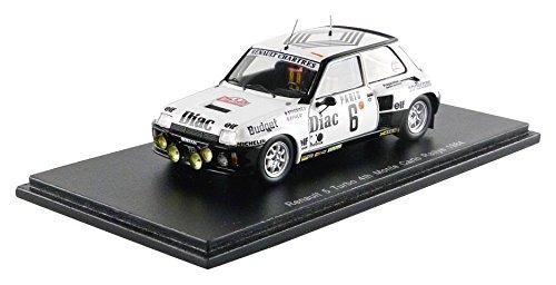 Renault 5 Turbo, No.6, Diac, Rallye WM, Rallye Monte-Carlo, 1984, Model Car, Ready-made, Spark 1:43