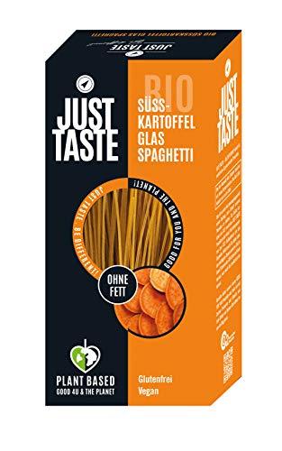 JUST TASTE – Süßkartoffel Kurkuma Glas Spaghetti – Die neue BIO Gemüse Pasta – 6er Pack á 250g