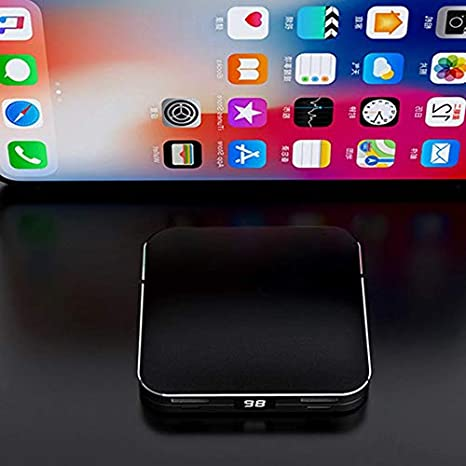 Only Black Supports Wireless Charging ningbao951 Portable 10000//20000mAh USB Charger Wireless Charging Pad External Battery Power Bank Super Mini Size